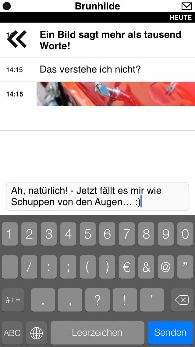 iOS Screenshot Gesprächsverlauf